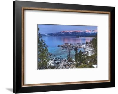 California, Lake Tahoe. Lake Overview at Sunrise-Jaynes Gallery-Framed Photographic Print