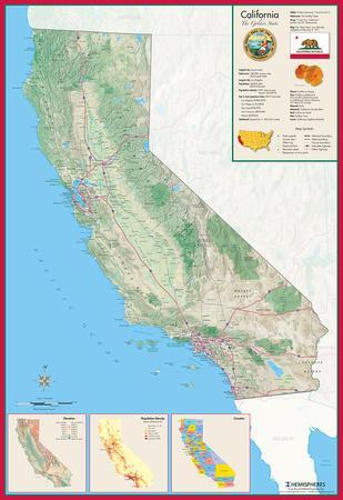 Maps of California artwork for sale Posters and Prints at Artcom