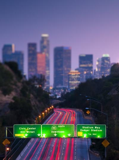 California, Los Angeles, Route 110, USA-Alan Copson-Photographic Print
