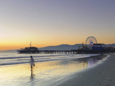 California, Los Angeles, Santa Monica Beach, Pier and Ferris Wheel, USA-Michele Falzone-Photographic Print