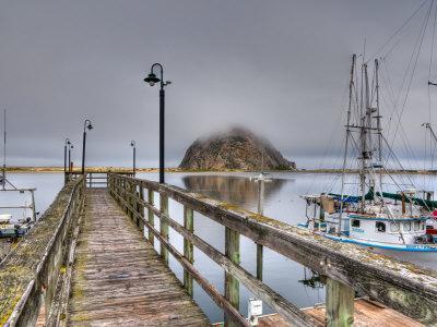 California, Morro Bay, Morro Rock, USA-Alan Copson-Photographic Print