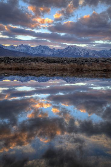 California, Owens Valley. Sierra Crest Seen from Buckley Ponds at Sunset-Jaynes Gallery-Photographic Print