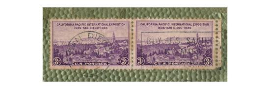 'California Pacific International Exposition - U.S. Postage Stamp', c1935-Unknown-Giclee Print
