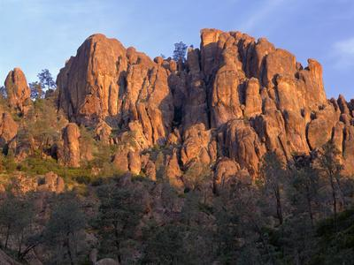 California, Pinnacles National Park, Sunrise Highlights Spires and Crags-John Barger-Photographic Print