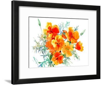 California Poppies-Suren Nersisyan-Framed Art Print
