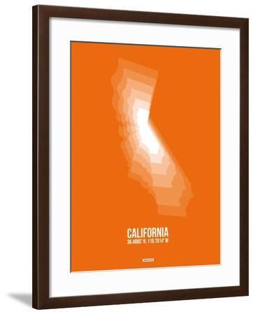 California Radiant Map 7-NaxArt-Framed Art Print