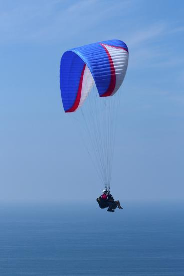California, San Diego. Hang Glider Flying at Torrey Pines Gliderport-Steve Ross-Photographic Print