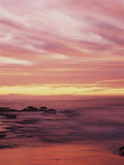 California, San Diego, Sunset Cliffs, Sunset over the Ocean with Waves-Christopher Talbot Frank-Photographic Print