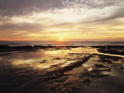 California, San Diego, Sunset Cliffs, Sunset Reflecting in Tide Pools-Christopher Talbot Frank-Photographic Print