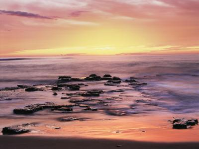 California, San Diego. Sunset Cliffs Tide Pools Reflecting the Sunset-Christopher Talbot Frank-Photographic Print