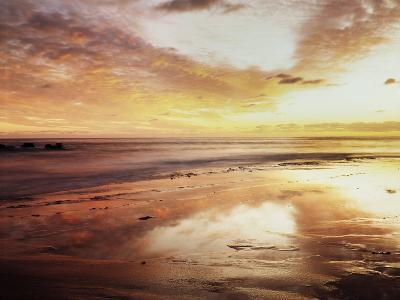 California, San Diego, Sunset over Tide Pools on the Pacific Ocean-Christopher Talbot Frank-Photographic Print