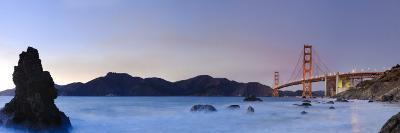 California, San Francisco, Baker's Beach and Golden Gate Bridge, USA-Michele Falzone-Photographic Print