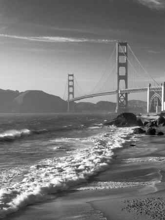 California, San Francisco, Golden Gate Bridge from Marshall Beach, USA-Alan Copson-Photographic Print