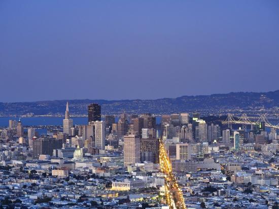 California, San Francisco, Skyline Viewed from Twin Peaks, USA-Michele Falzone-Photographic Print