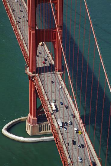 California, San Francisco, Traffic on Golden Gate Bridge-David Wall-Photographic Print