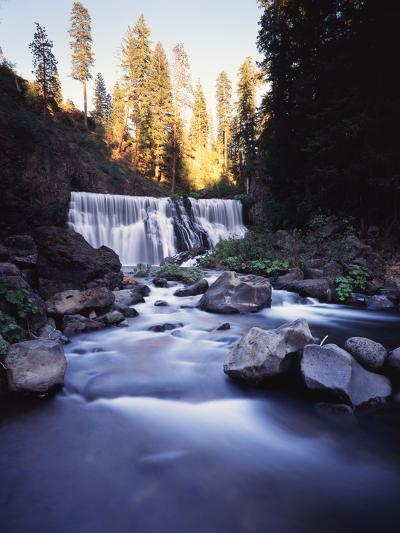 California, Shasta Trinity Nf, Middle Fall on the Mccloud River-Christopher Talbot Frank-Photographic Print