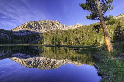 California, Sierra Nevada Mountains. Calm Reflections in Grass Lake-Dennis Flaherty-Photographic Print