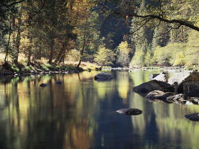 California, Sierra Nevada, Yosemite National Park, Autumn Along the Merced River-Christopher Talbot Frank-Photographic Print
