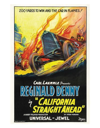 California Straight Ahead - 1925--Art Print