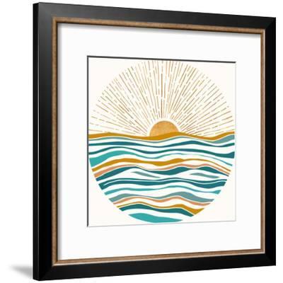 California Sunset-Modern Tropical-Framed Art Print