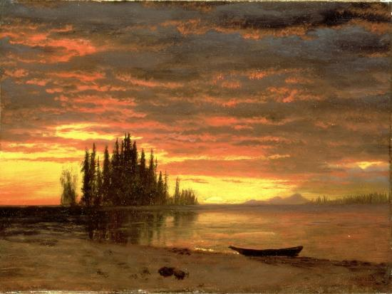 California Sunset-Albert Bierstadt-Giclee Print