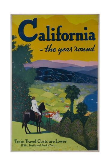 California the Year Round, Travel Poster--Giclee Print