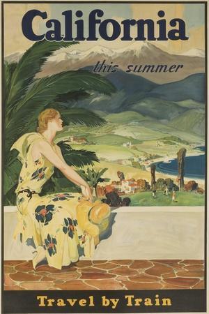 California This Summer Travel by Train--Giclee Print