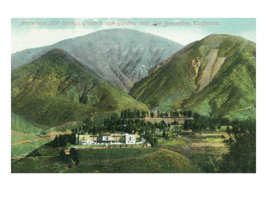 California - View of Arrowhead Hot Springs Grounds Near San Bernardino-Lantern Press-Art Print