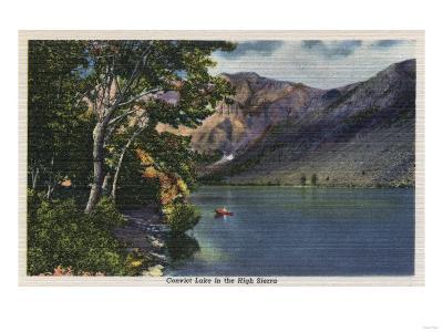 California - View of Convict Lake in the High Sierra-Lantern Press-Art Print