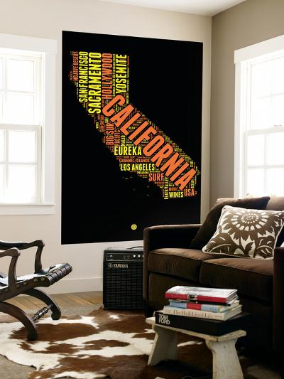 California Word Cloud 1-NaxArt-Wall Mural