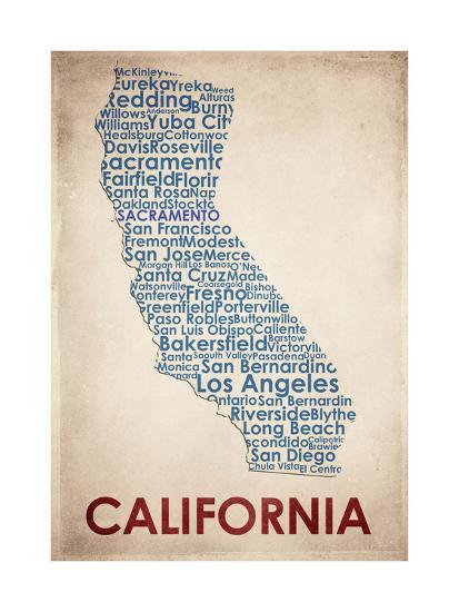 California-American Flat-Giclee Print