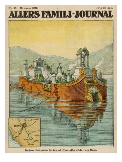 Caligula's Floating Palace on Lake Nemi, Near Rome--Giclee Print