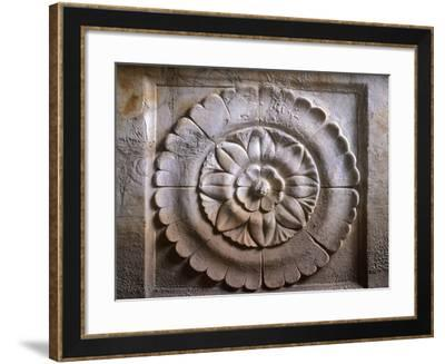 Calisna Sepu Urn, Detail of a Rose from the Rear Decoration--Framed Giclee Print