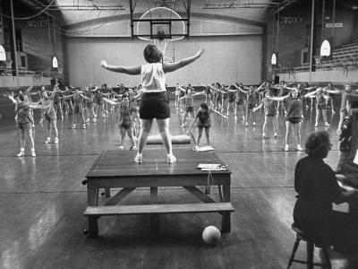 Calisthenics in the Davenport High School Gym-Yale Joel-Photographic Print