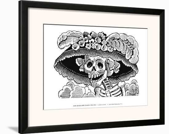 Calivera Catrina-Jose Guadalupe Posada-Framed Art Print