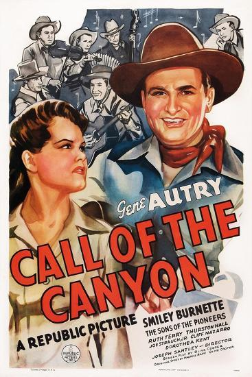 Call of the Canyon, Ruth Terry, Gene Autry, 1942--Art Print