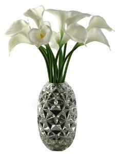 Calla Lilies in Faceted Vase