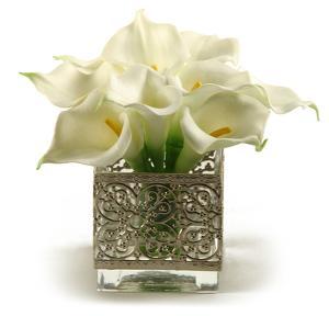 Calla Lilies in Filigree Vase
