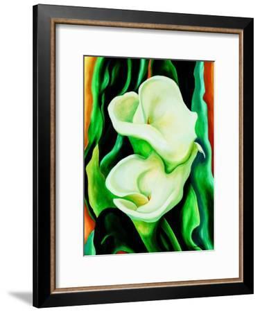 Calla lilies-Hyunah Kim-Framed Premium Giclee Print