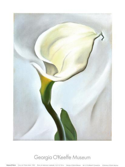Calla Lily Turned Away, 1923-Georgia O'Keeffe-Art Print