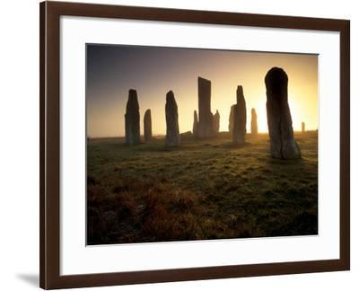 Callanish Standing Stones, Isle of Lewis, Outer Hebrides, Scotland-Patrick Dieudonne-Framed Photographic Print