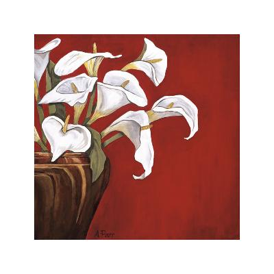 Callas on Red-Ann Parr-Giclee Print