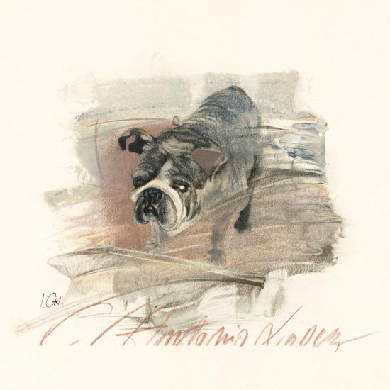 Calle Antonio Valdez-Ines Champagne-Art Print
