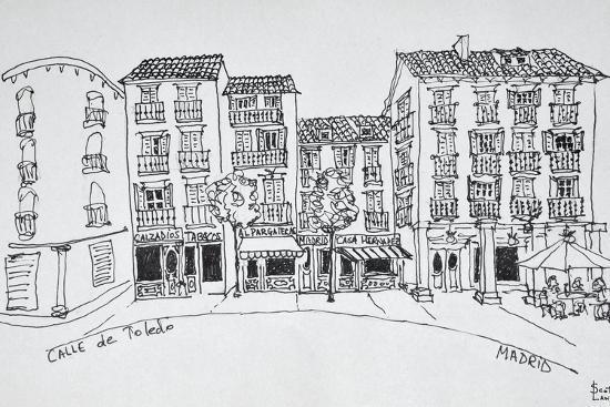 Calle de Toledo shopping street, Madrid, Spain-Richard Lawrence-Premium Photographic Print