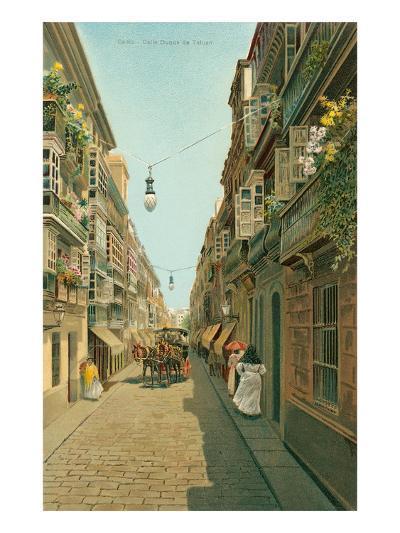Calle Duque De Tetuan, Cadiz, Spain--Art Print