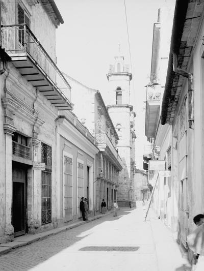 Calle Emperador and Cathedral, Havana, Cuba--Photo