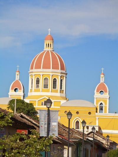 Calle La Calzada and Cathedral De Granada, Granada, Nicaragua, Central America-Jane Sweeney-Photographic Print