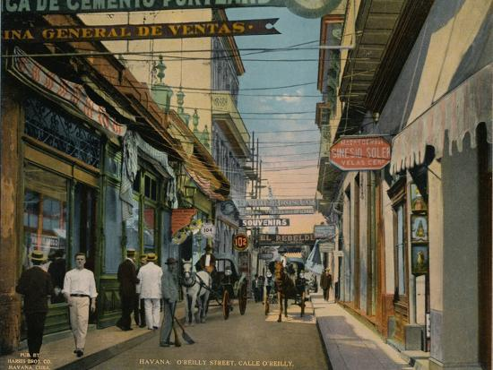 Calle O'Reilly, Havana, Cuba, c1920-Unknown-Photographic Print