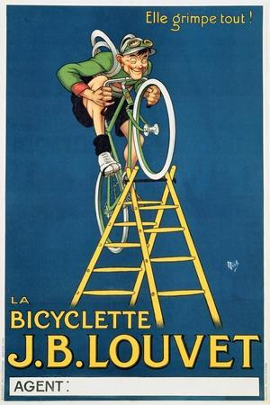 'It'Ll Climb Anything', Advertisement for the J.B. Louvet Bicycle