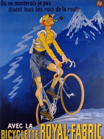 Poster Advertising Cycles 'Royal-Fabric', 1910